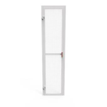 Single door for fencing - filling with a galvanized net
