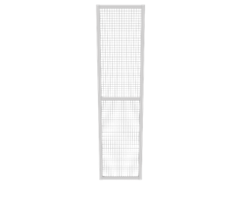 Panel with 600 x 2400 grid - filling with galvanized mesh