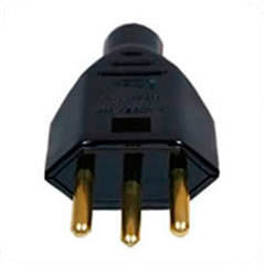 Brazil NBR 14136 10 Amp 250 Volt Black Straight Entry Male Plug